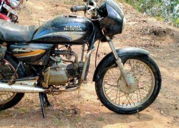 Strange! Not fish but bike caught in fishing net in Bhadrak