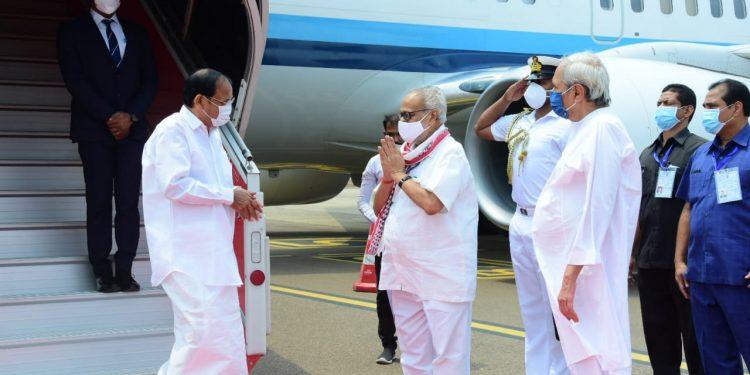 Vice-President M Venkaiah Naidu arrives in Odisha 2-day visit