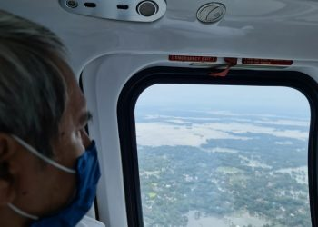 Chief Minister Naveen Patnaik conducts aerial survey of cyclone affected areas