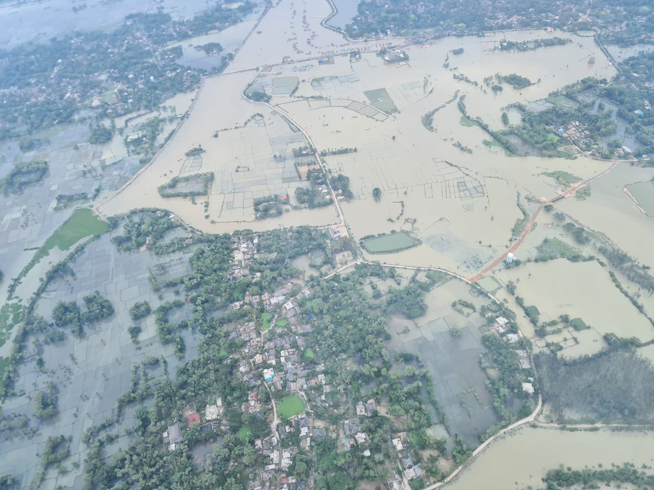 Chief Minister Naveen Patnaik conducts aerial survey
