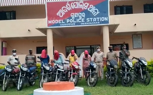 Bike lifting gang busted in Rayagada; four arrested, 10 bikes recovered