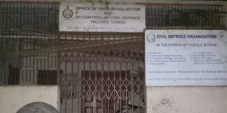 Talcher Civil Defence Organisation office in need of 'defence'