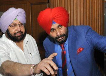 Amarinder Singh and Navjot Singh Sidhu