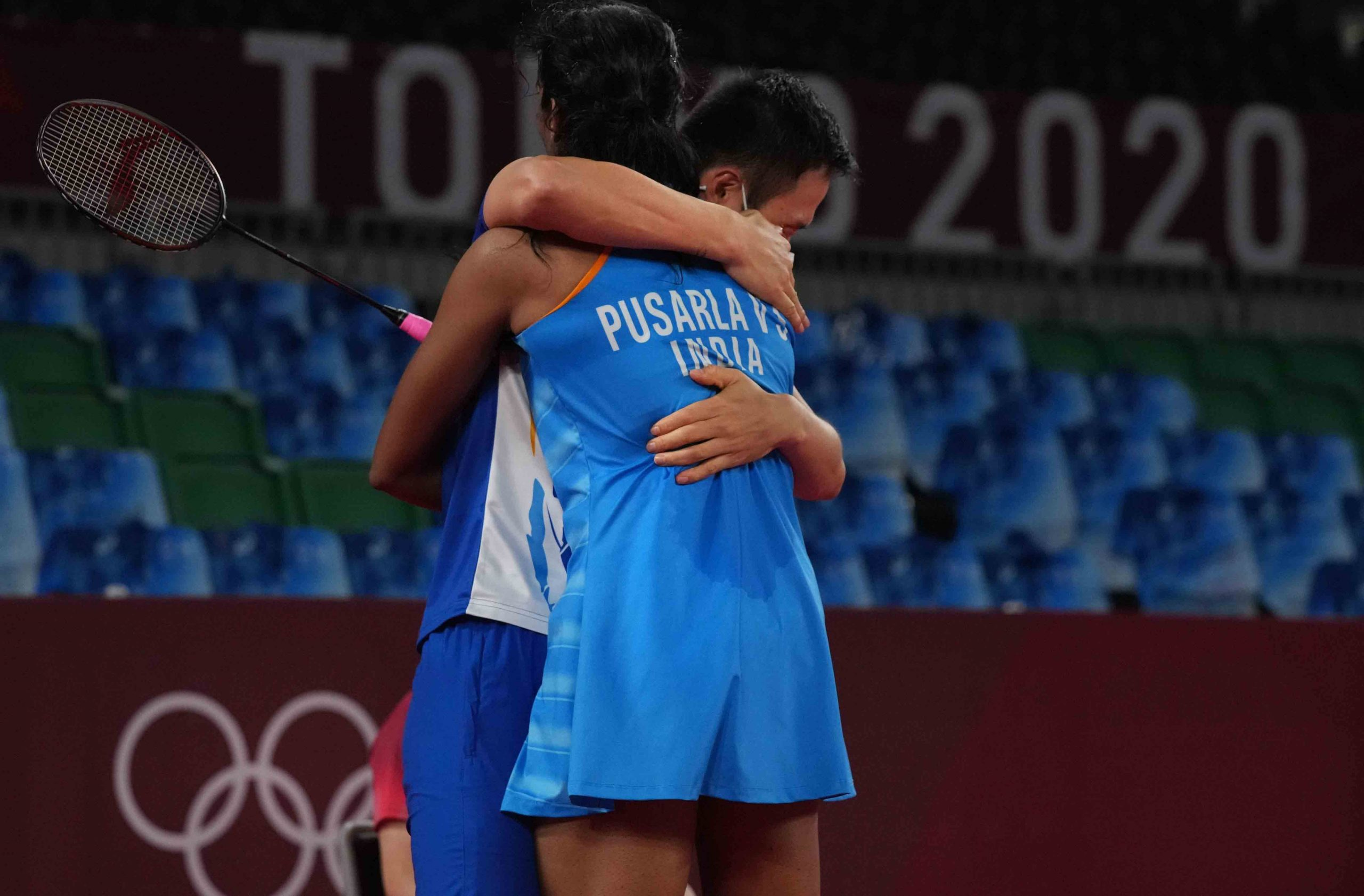 Sindhu and her coach