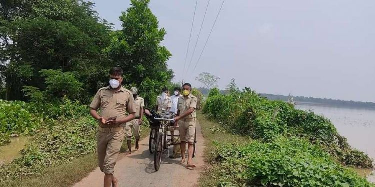 Dignity denied in death Youth's body carried on trolley in Jajpur district