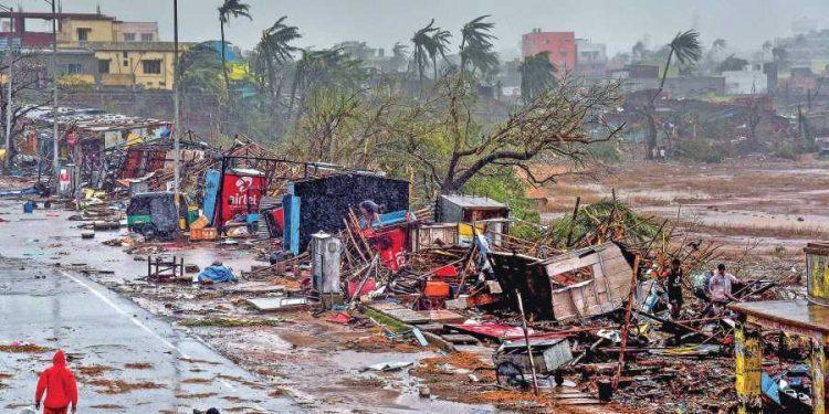 File photo of Puri ravaged by cyclonic storm Fani that wreaked havoc in coastal Odisha May 3, 2019