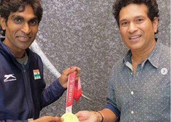 Sachin Tendulkar's calmness helped Pramod Bhagat win gold