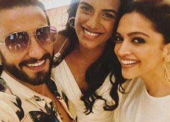 Ranveer Singh, Deepika's selfie with PV Sindhu goes viral