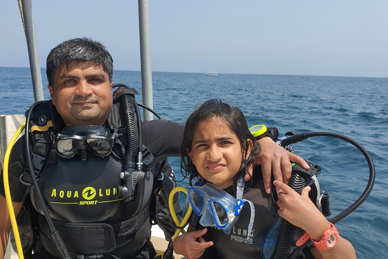 Tisya Panigrahi along with her father Priyadarshee Panigrahi