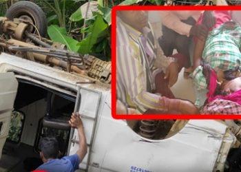 1 killed, 15 injured after vehicle skids off road in Gajapati district
